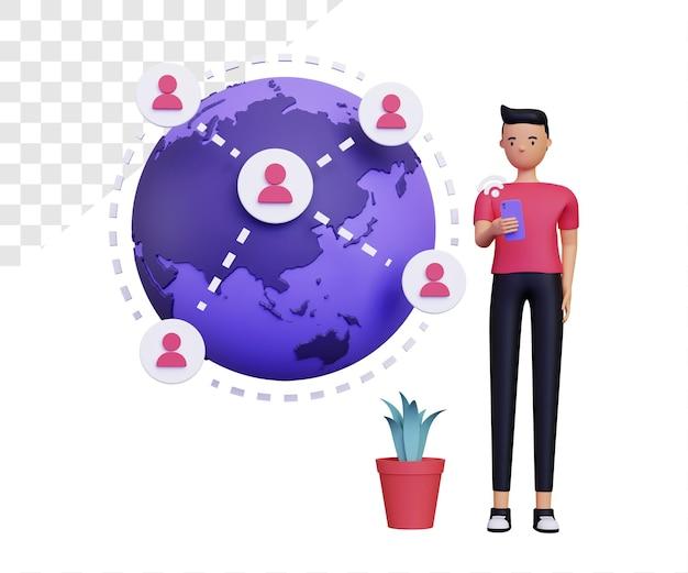 3d online verbinding met mannelijk personage
