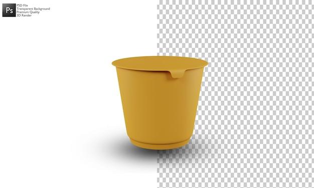 3d-ontwerpillustratie mockup noodle-verpakking