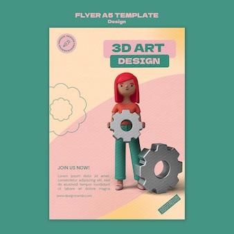 3d-ontwerpsjabloon folder