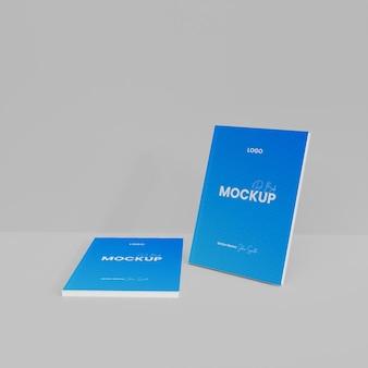 3d paper book mockup geïsoleerd