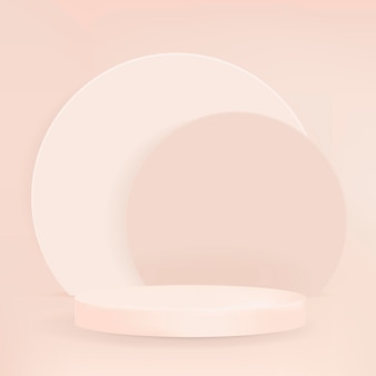3d pastel display podium psd minimale productachtergrond