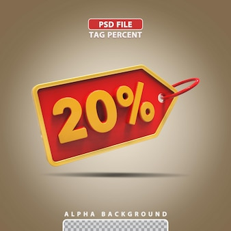 3d-percentage 20 procent