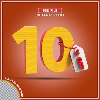 3d-percentages 10 procent biedt creatief ontwerp