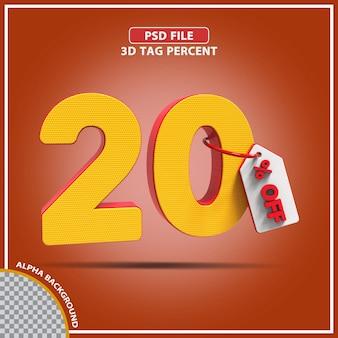 3d-percentages 20 procent biedt creatief ontwerp