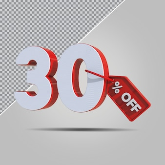 3d-percentages 30 procent aanbieding