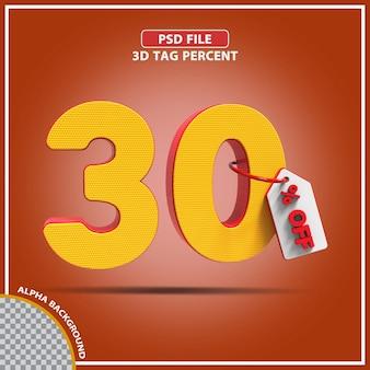 3d-percentages 30 procent biedt creatief ontwerp