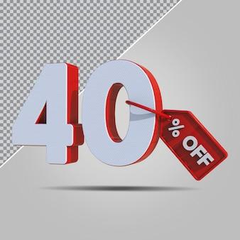 3d-percentages 40 procent aanbieding