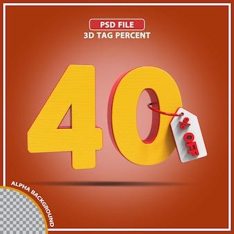 3d-percentages 40 procent biedt creatief ontwerp