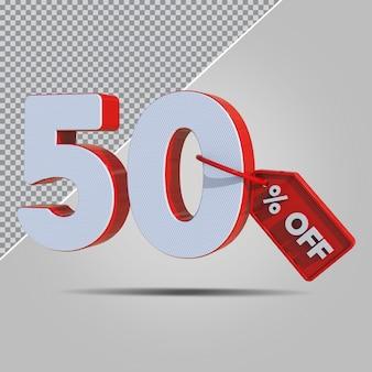 3d-percentages 50 procent aanbieding