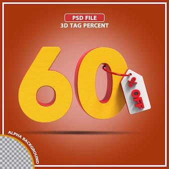 3d-percentages 60 procent biedt creatief ontwerp