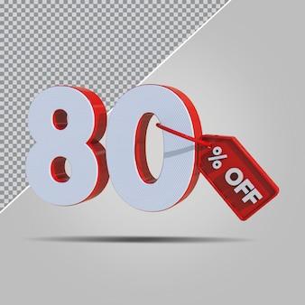 3d-percentages 80 procent aanbieding