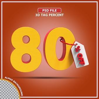 3d-percentages 80 procent biedt creatief ontwerp