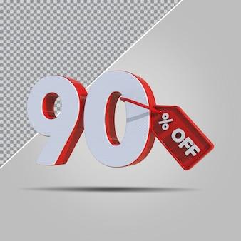3d-percentages 90 procent aanbieding