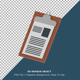 3d-pictogram bord vector klembord pictogram