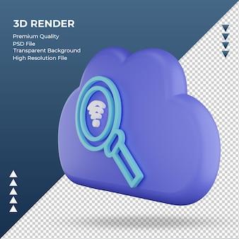 3d-pictogram internet wolk zoek teken weergave juiste weergave