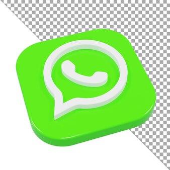 3d-pictogram logo whatsapp minimalistisch isometrisch