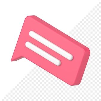 3d-pictogram van commentaar