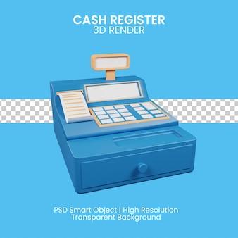 3d-pictogram van geldautomaat voor kassiermedewerker in de winkel