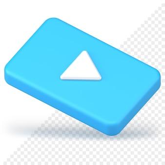 3d-pictogram voor video-afspeelknop