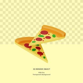 3d pizza illustratin object gerenderd premium psd