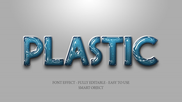 3d plastic steen keramisch glans teksteffect