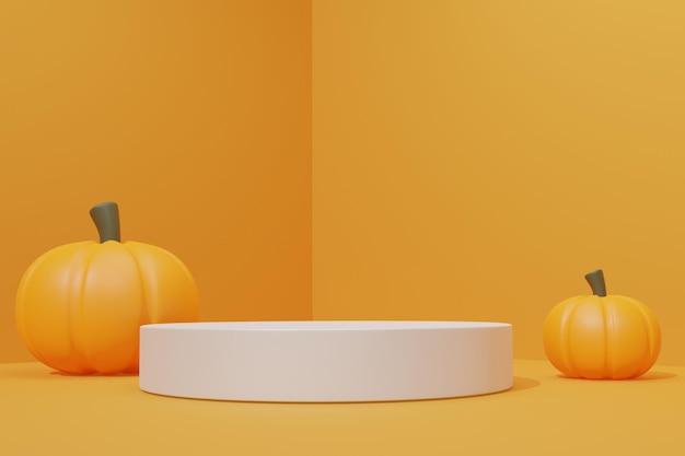 3d-podium met halloween-thema