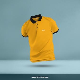 3d polo t-shirt mockup design geïsoleerd
