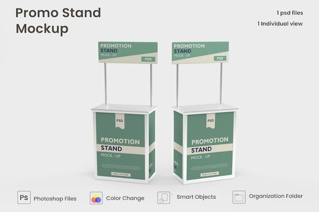3d promo stand mockup premium psd