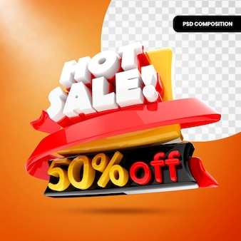 3d-promotiebanner voor hete verkoop