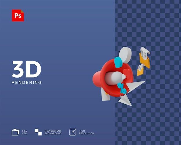 3d-promotieillustratie
