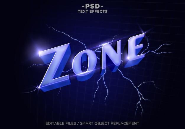 3d purplezone vapor style-effecten bewerkbare tekst