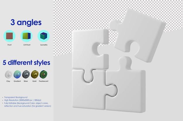 3d-puzzel pictogram