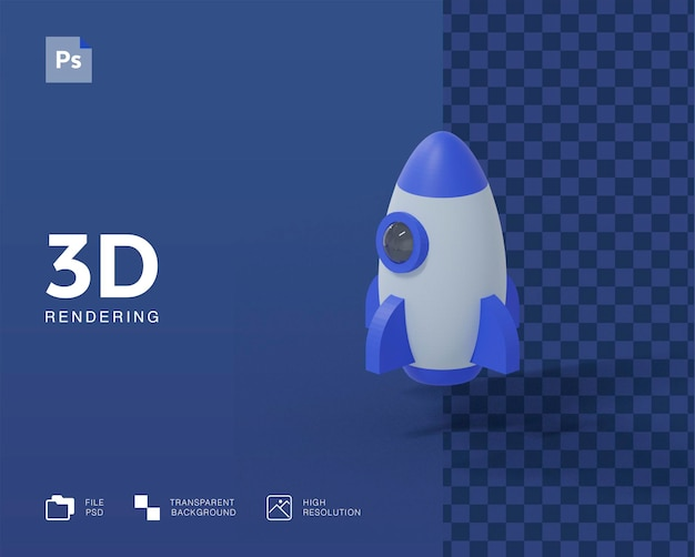 3d raket illustratie