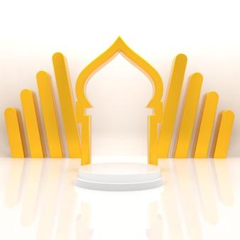 3d ramadan kareem podium realistische weergave