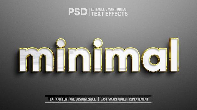 3d-realistisch elegant wit parelgoud op mat granieten plaat teksteffect bewerkbaar slim objectmodel