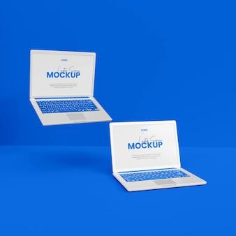 3d-realistisch laptopmodel geïsoleerd