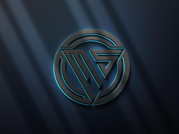 3d-realistisch logo mockup-ontwerp met elegante schaduw