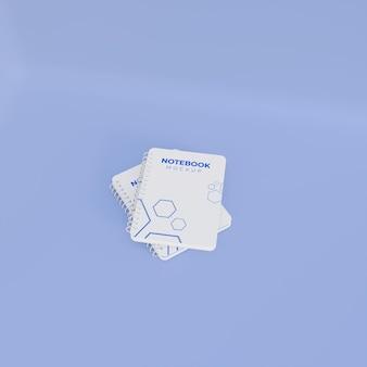 3d-realistisch ringvormig notebookmodel