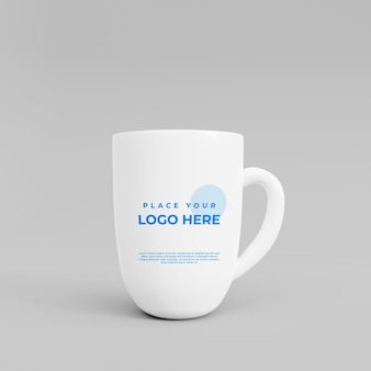 3d realistische ciramic cup mockup