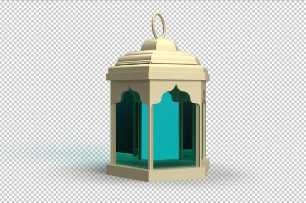 3d-realistische render islamitische lantaarn psd