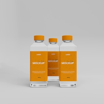 3d-realistische sapglazen flesmodel