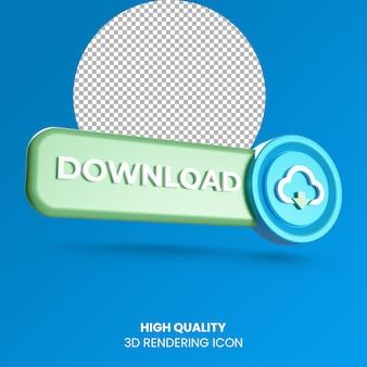 3d-realistische weergave downloadpictogram