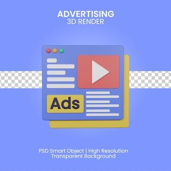 3d-reclame illustratie geïsoleerd