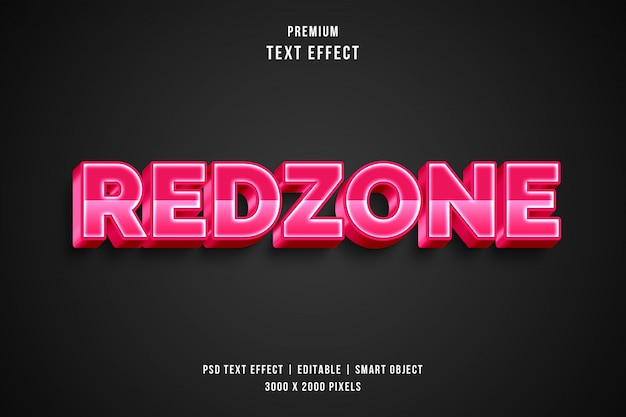 3d redzone tekststijleffect