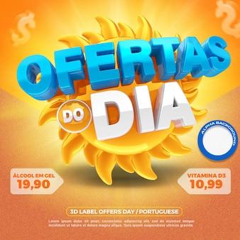 3d render aanbiedingen van de dag voor algemene winkels in brazilië