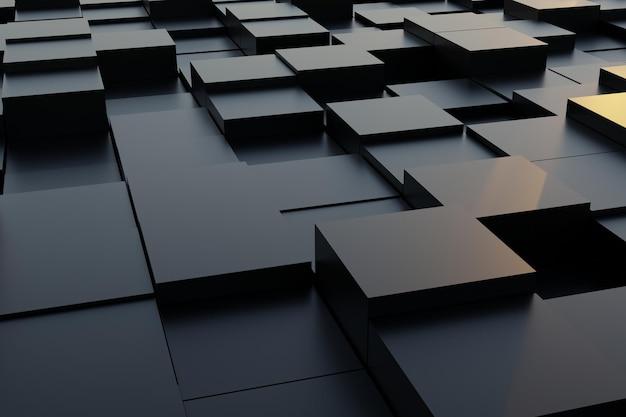 3d render abstracte geometrische vierkante achtergrond