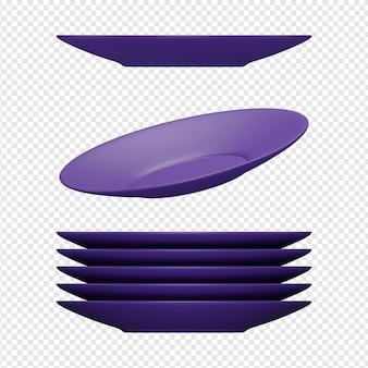 3d render aislado del icono de placa psd