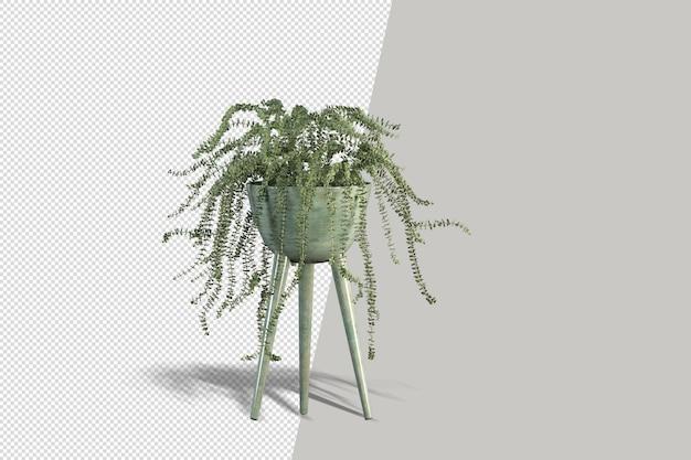 3d render borstel boom geïsoleerd