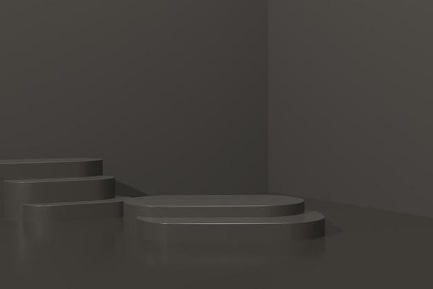 3d render eenvoudig podium voor productpresentatie