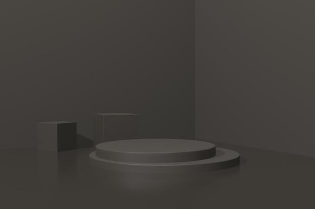 3d render eenvoudig podium voor produst-advertentie